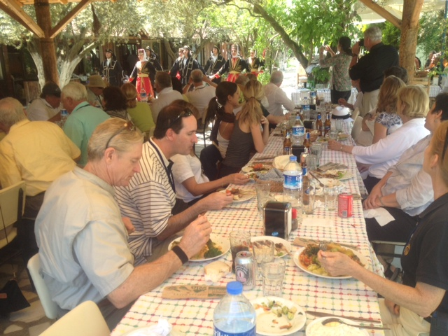 Guests enjoyed a private folk dance show during lunch after tour of Ephesus