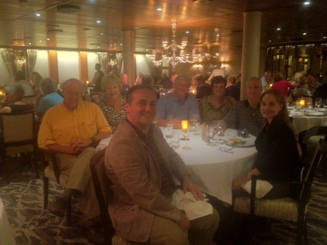 Farewell dinner aboard Windstar; delicious food, good wine and lots of laughters
