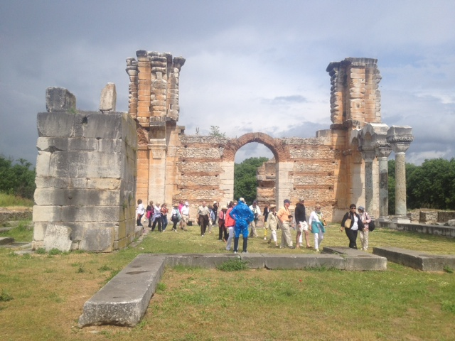 Guests of FCP of Houston exlporing the remains of the First Christian Basilica built in Europe within the city pf Philippi