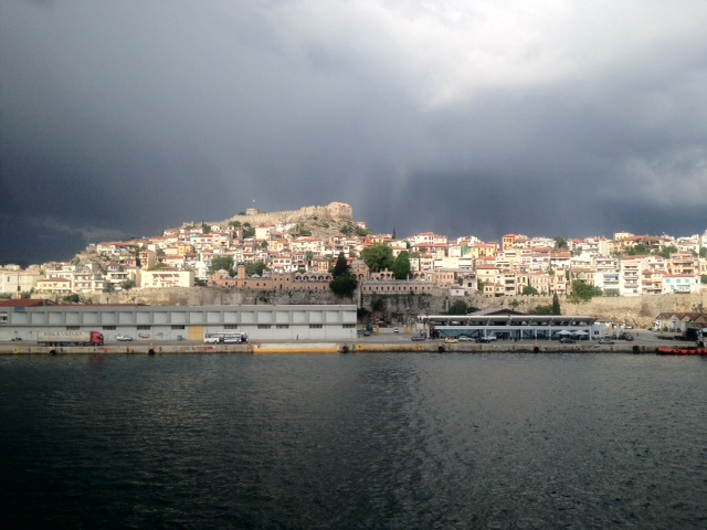 Farewell to Kavala from the deck of Windstar