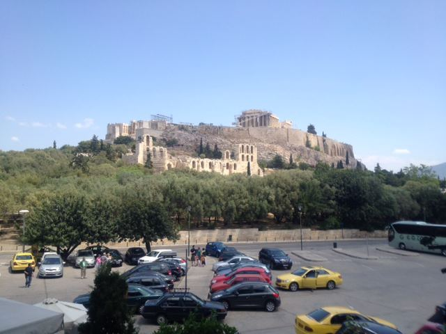 View from Dionysus Restaurant; Acropolis of Athens