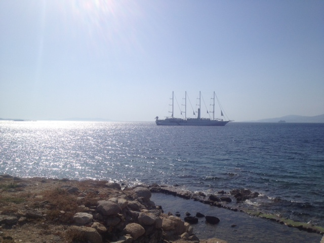 Windstar at Harbour of Myconos